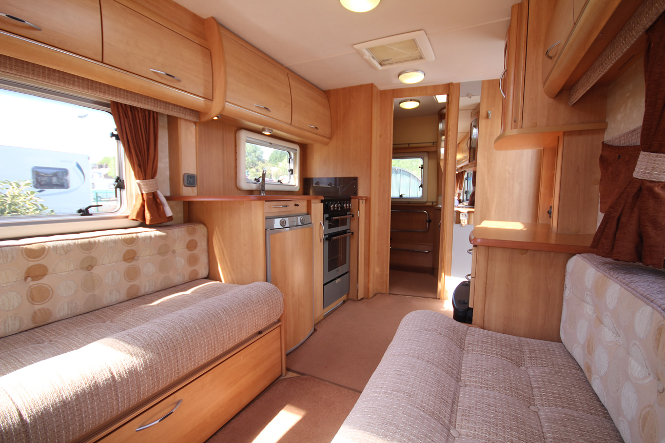Kina Campers 6 2 berth Ace Award Brightstar end bathroom