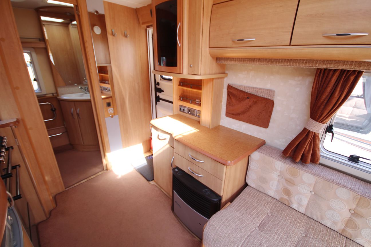 Kina Campers 8 2 berth Ace Award Brightstar end bathroom