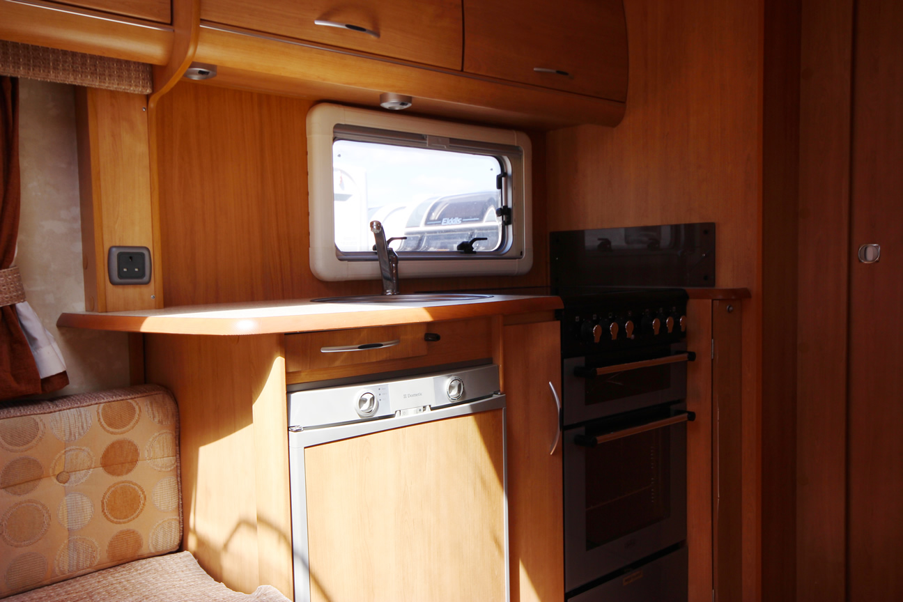Kina Campers 9 2 berth Ace Award Brightstar end bathroom