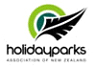 Kina Campers holiday parks logo Camping in New Zealand